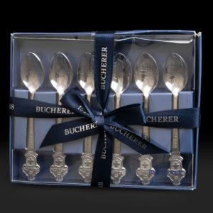 Set de 6 Culières Rolex en Inox pour Bucherer Genève.