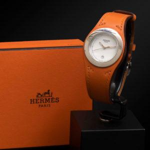 Montre de dame Hermes Harnais en acier, référence HA3.210