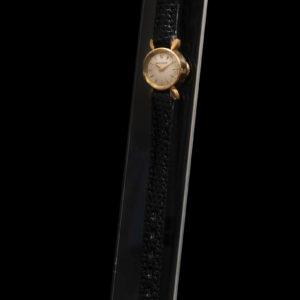 Jaeger Lecoultre montre de dame en or jaune sur cuir circa 1950