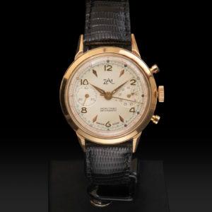 ZAL Chronographe Or rose Circa 1950