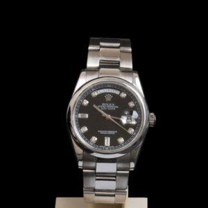 Rolex Day Date 118209 cacdran noir diamants