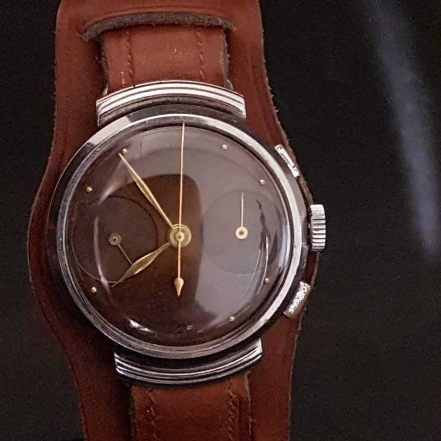 Heuer Chronographe Cadran Tropical circa 1965